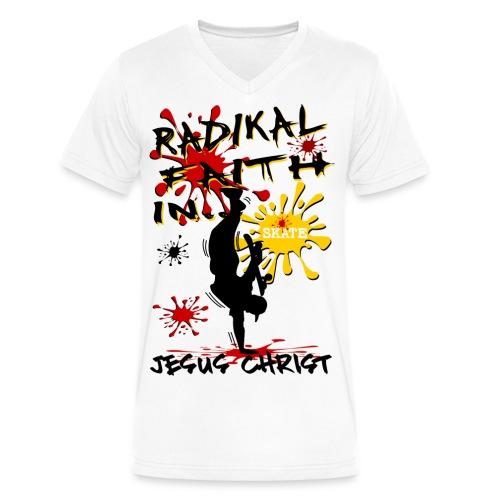 No Risk No Fun RCA Hat - Men's V-Neck T-Shirt by Canvas