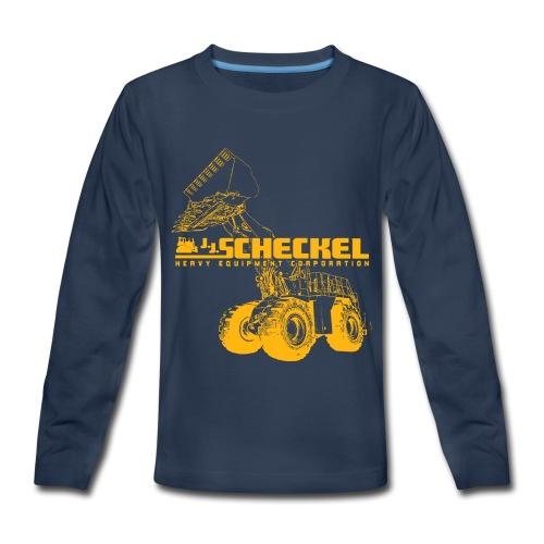 JJ Scheckel 992D Loader Kids Long Sleeve Shirt - Kids' Premium Long Sleeve T-Shirt