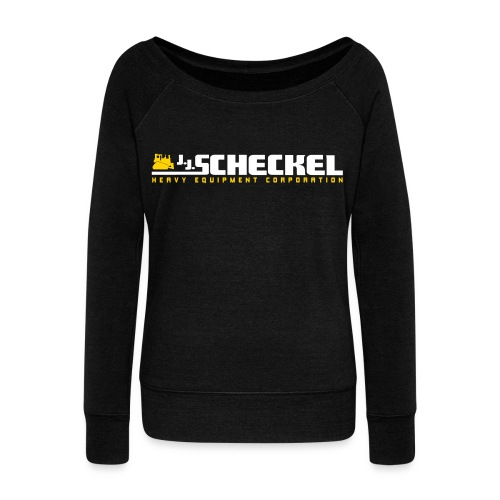 Women's Wideneck Sweatshirt JJ Scheckel Logo - Women's Wideneck Sweatshirt