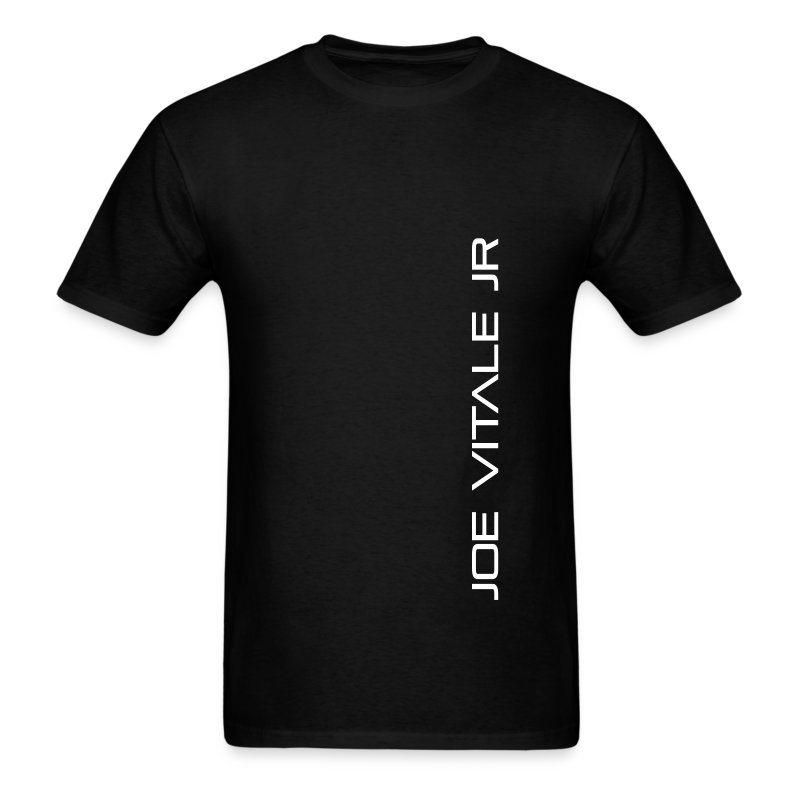 Joe Vitale Jr (Verticle) T-Shirt (Dark Matter Black) - Men's T-Shirt
