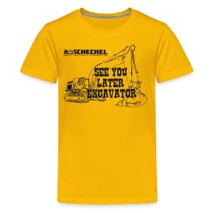 See You Later Excavator Kids Tshirt - Kids' Premium T-Shirt