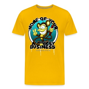 no monkey business - Men's Premium T-Shirt