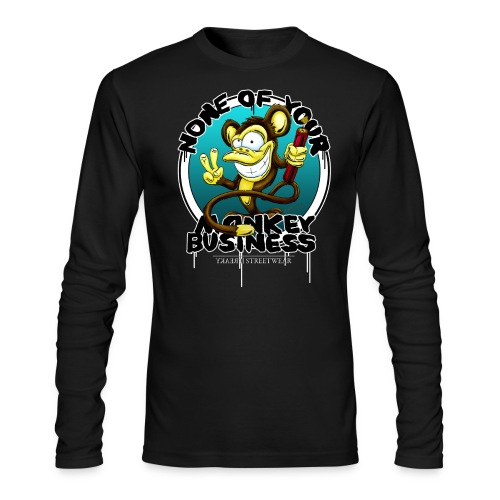 no monkey business - Men's Long Sleeve T-Shirt by Next Level