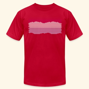 Snowscape - Men's T-Shirt by American Apparel