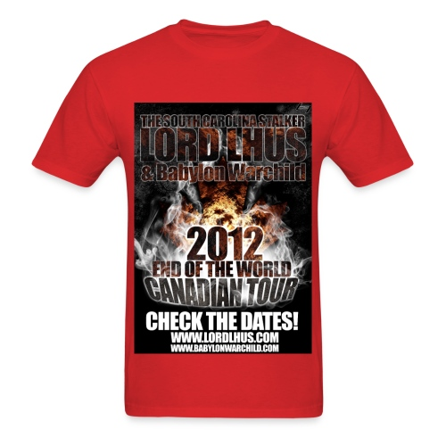 Lord Lhus - Standard Weight - LORD LHUS END OF THE WORLD TOUR 2012 T-Shirt (LIMITED) - Men's T-Shirt