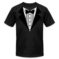 T-Shirts ~ Men's T-Shirt by American Apparel ~ Great Tuxedo