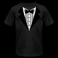 T-Shirts ~ Men's T-Shirt by American Apparel ~ Great Tuxedo