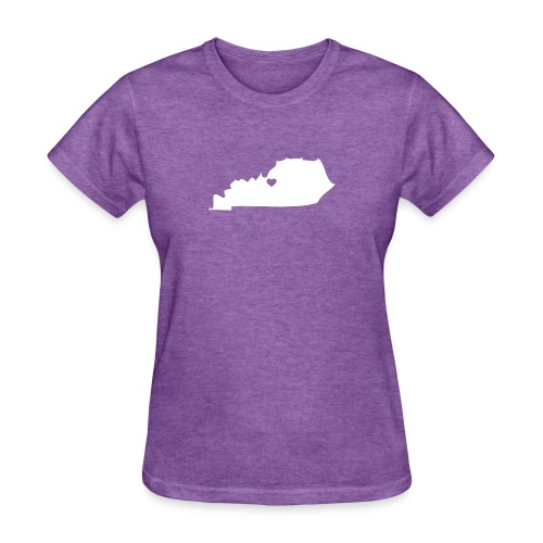 Kentucky Silhouette with Heart - Women's T-Shirt