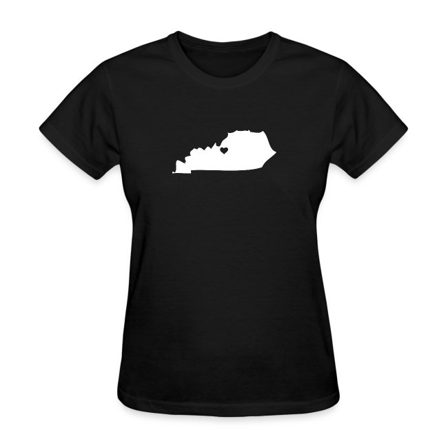 Kentucky Silhouette with Heart
