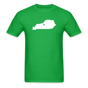 Kentucky Silhouette with Star - Men's T-Shirt