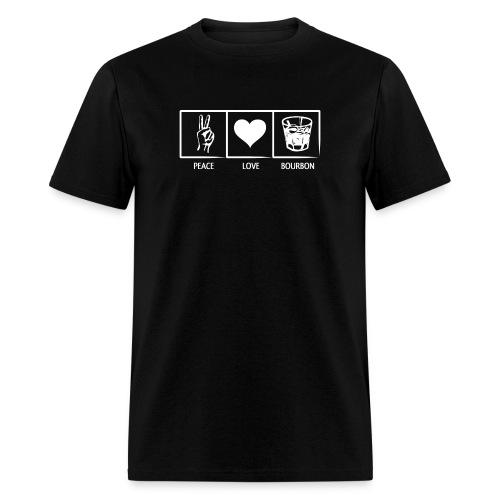 Peace, Love, Bourbon - Mens - Men's T-Shirt
