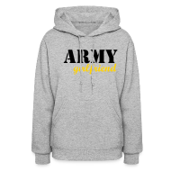 Hoodies ~ Women's Hoodie ~ CUSTOM* Army Girlfriend - KLW