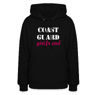 Hoodies ~ Women's Hoodie ~ Coast Guard Girlfriend