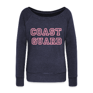 Long Sleeve Shirts ~ Women's Wideneck Sweatshirt ~ COAST GUARD Wideneck Sweatshirt