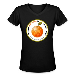 The Real Time Lords of Orange County Circle Logo - Women's V-Neck T-Shirt