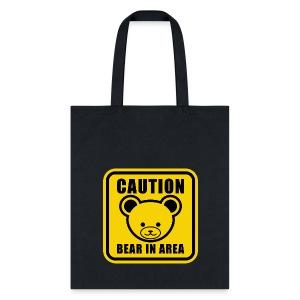 Cute Teddy Bear Warning Sign in yellow
