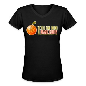 The Real Time Lords of Orange County Logo - Women's V-Neck T-Shirt