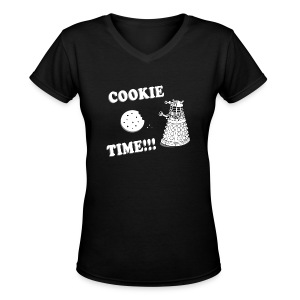 Cookie Time!!! - Women's V-Neck T-Shirt