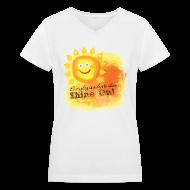 T-Shirts ~ Women's V-Neck T-Shirt ~ Shine On! T-Shirt