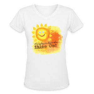 Shine On! T-Shirt - Women's V-Neck T-Shirt