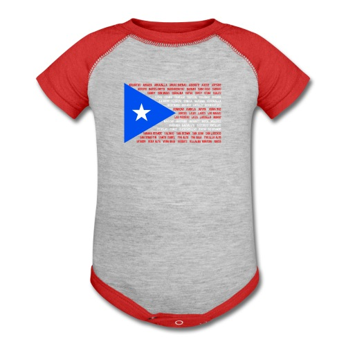 Puerto Rico Flag baby one piece - Baby Contrast One Piece