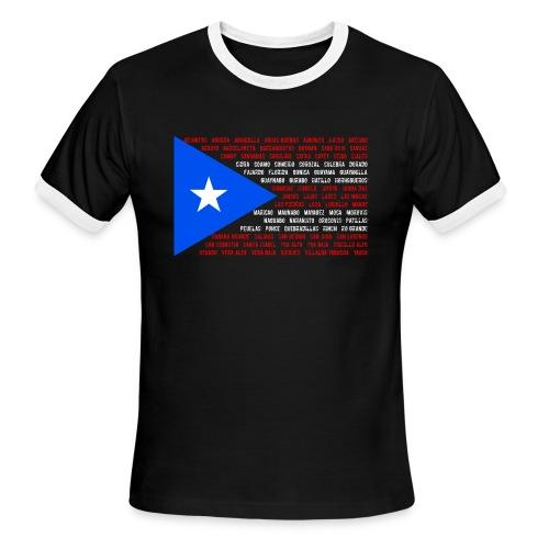 Puerto Rico Flag ringer t-shirt (men) - Men's Ringer T-Shirt