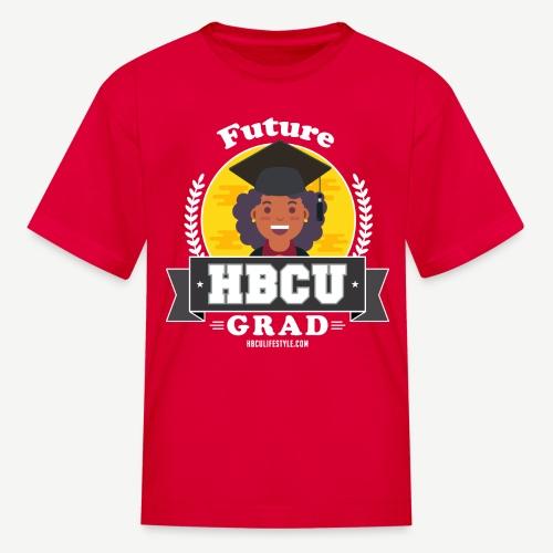 Future HBCU Grad (Youth) - Girls Red, Yellow, and Gray Shirt - Kids' T-Shirt