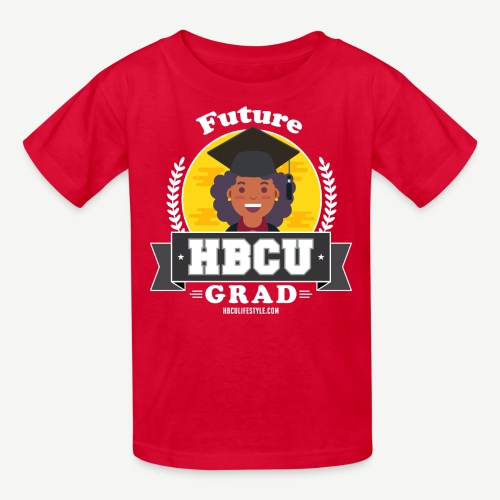 Future HBCU Grad (Youth) - Girls Red, Yellow, and Gray Shirt - Kids' T-Shirt
