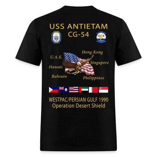 USS ANTIETAM CG-54 1990 DESERT STORM CRUISE SHIRT - Men's T-Shirt