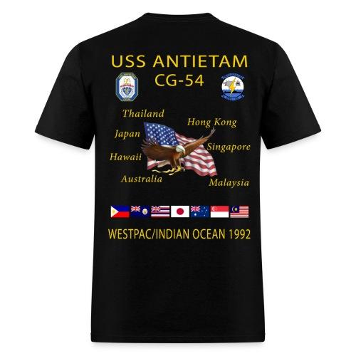 USS ANTIETAM CG-54 1992 CRUISE SHIRT - Men's T-Shirt