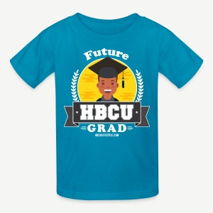 Future HBCU Grad (Youth) - Boys Teal, Yellow, and Gray Shirt - Kids' T-Shirt