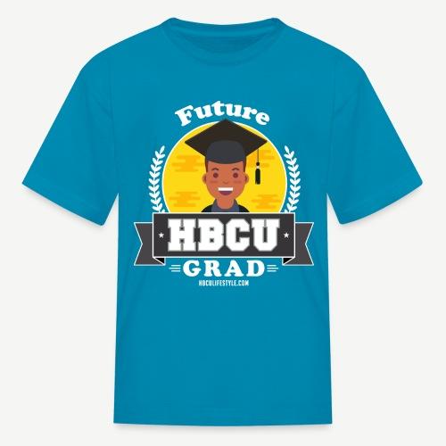 Future HBCU Grad (Youth) - Boys Teal, Yellow, and Gray Shirt - Kids' T-Shirt