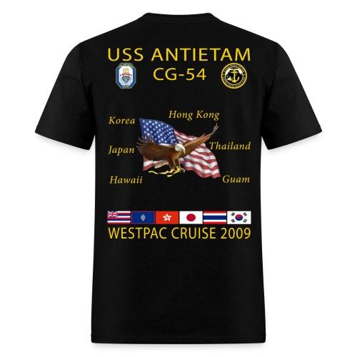 USS ANTIETAM CG-54 2009 CRUISE SHIRT  - Men's T-Shirt