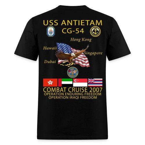 USS ANTIETAM CG-54 2007 CRUISE SHIRT  - Men's T-Shirt