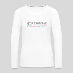 Yes, they're fake BRCA #1 - Women's Premium Long Sleeve T-Shirt