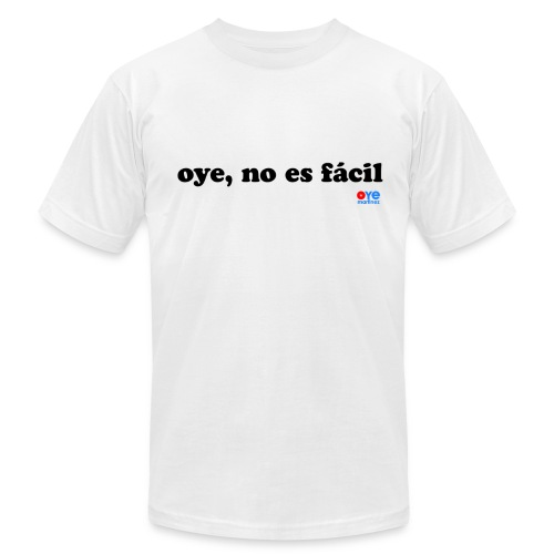 No es Facil (Man Black Font) - Men's Fine Jersey T-Shirt