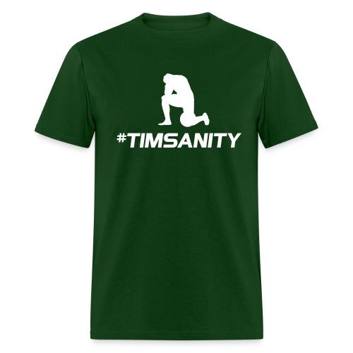 #timsanity shirt - green Tebowing - Men's T-Shirt