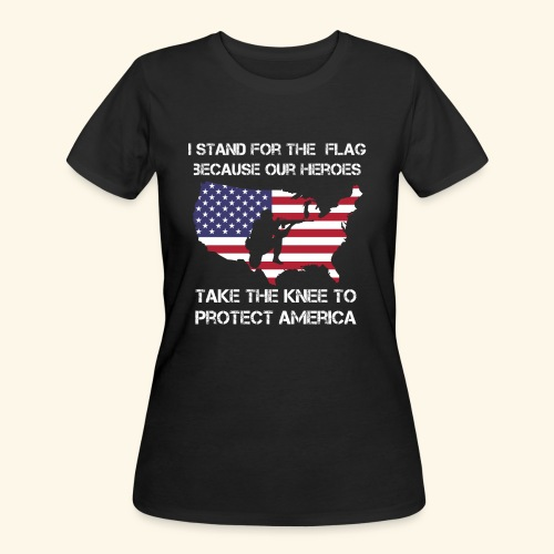 Stand For The Flag | Stand For The Anthem Tshirt - Women's 50/50 T-Shirt
