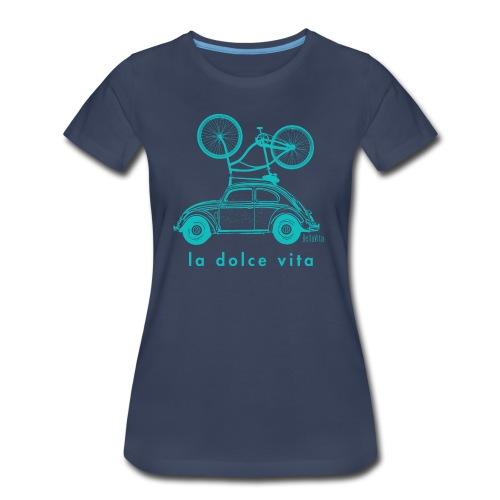 BellaVita Women's blue shirt- vintage car and bike - Women's Premium T-Shirt