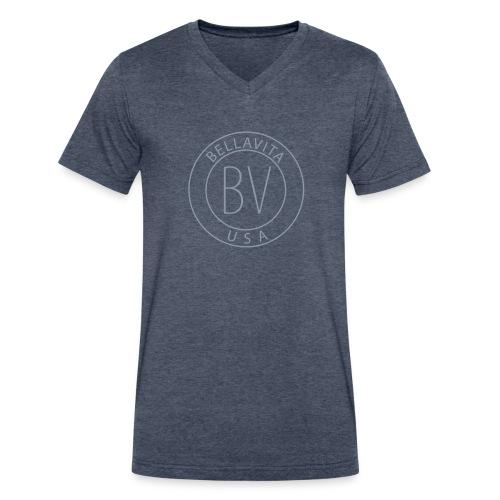 BellaVita Men's blue shirt- BV - Men's V-Neck T-Shirt by Canvas