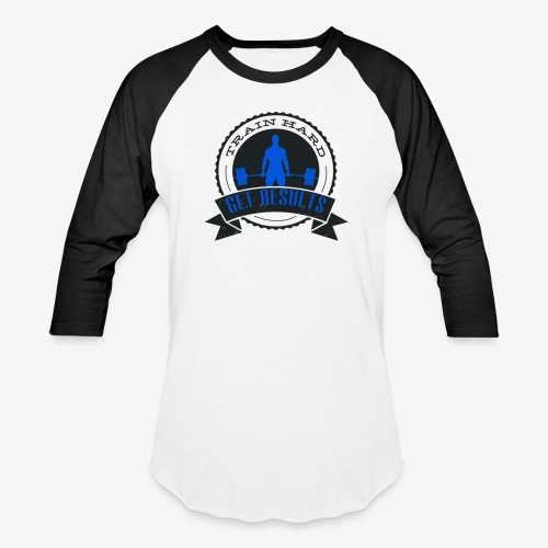 TRAIN HARD CLASSIC BASEBALL TEE - Black & Blue - Baseball T-Shirt
