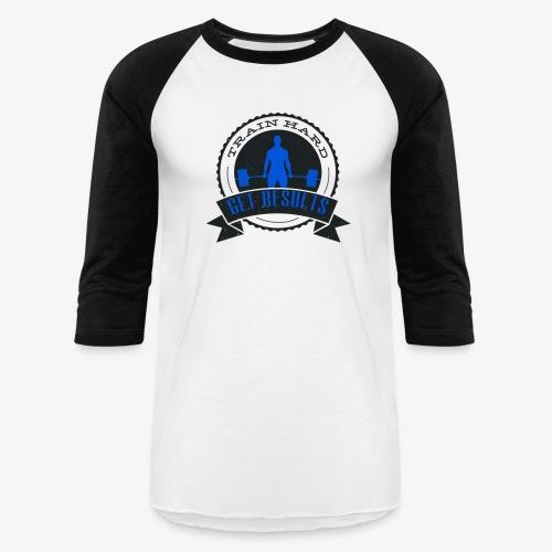 TRAIN HARD CLASSIC BASEBALL TEE - Black & Blue - Baseball T-Shirt