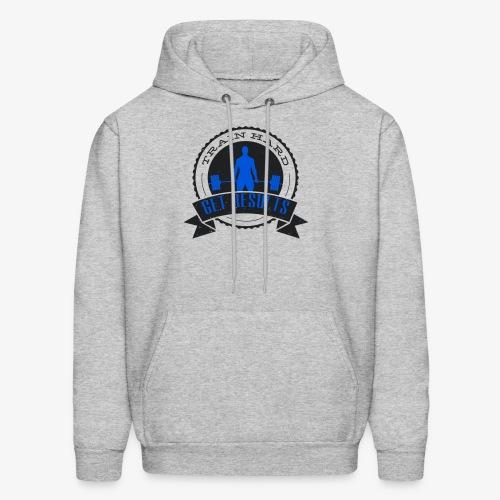 TRAIN HARD CLASSIC HOODIE - Gray & Blue - Men's Hoodie