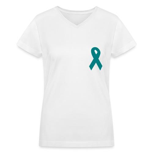 TS Awareness | Women's V-neck - Women's V-Neck T-Shirt