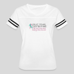 Okay yeah, they're fake BRCA #2 - Women's Vintage Sport T-Shirt