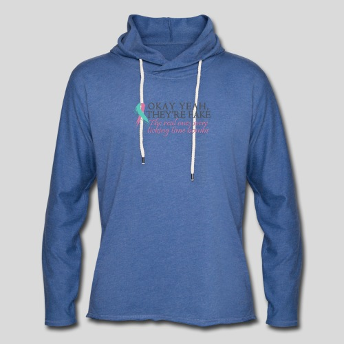 Okay yeah, they're fake BRCA #2 - Unisex Lightweight Terry Hoodie