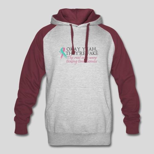Okay yeah, they're fake BRCA #2 - Colorblock Hoodie
