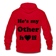 Zip Hoodies & Jackets ~ Unisex Fleece Zip Hoodie by American Apparel ~ CUSTOM ORDER** USMC Infinity love, he's my other half