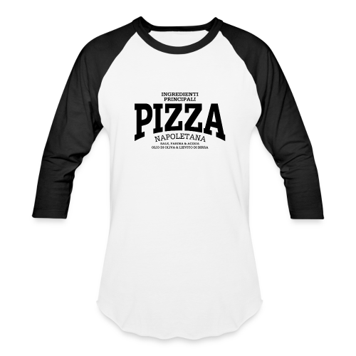 Pizza Napoletana (black) - Baseball T-Shirt