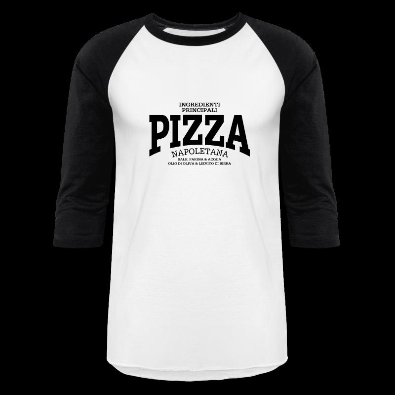 Pizza Napoletana (black) - Baseball T-Shirt